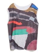NWOT ZARA Printed Strokes T-shirt size XS in Mu... - $25.00