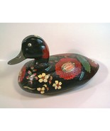 Old wooden real Duck Decoy hand-painted Tole Ba... - $38.00