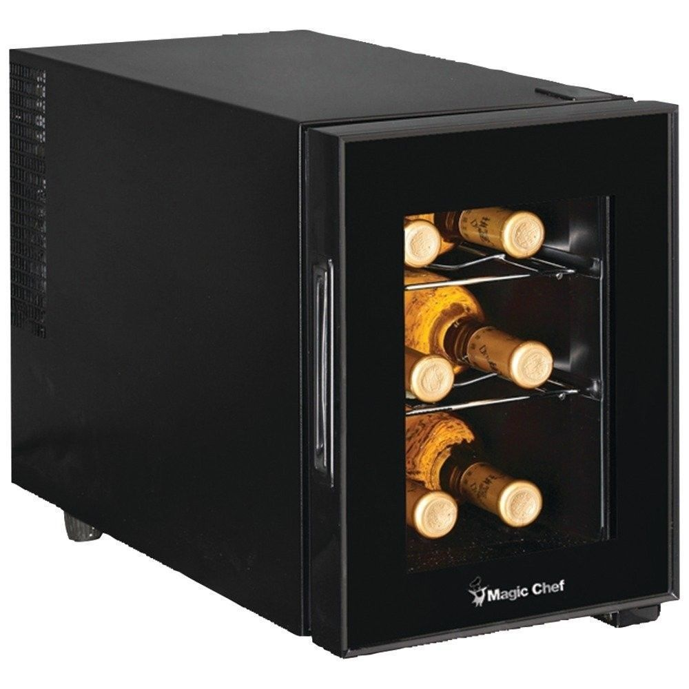 Wine cooler fridge mini refrigerator chiller bottle rack for Best wine fridge brands