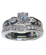1.25 Ct Round Cut Cz Engagement Wedding Ring Se... - $29.99