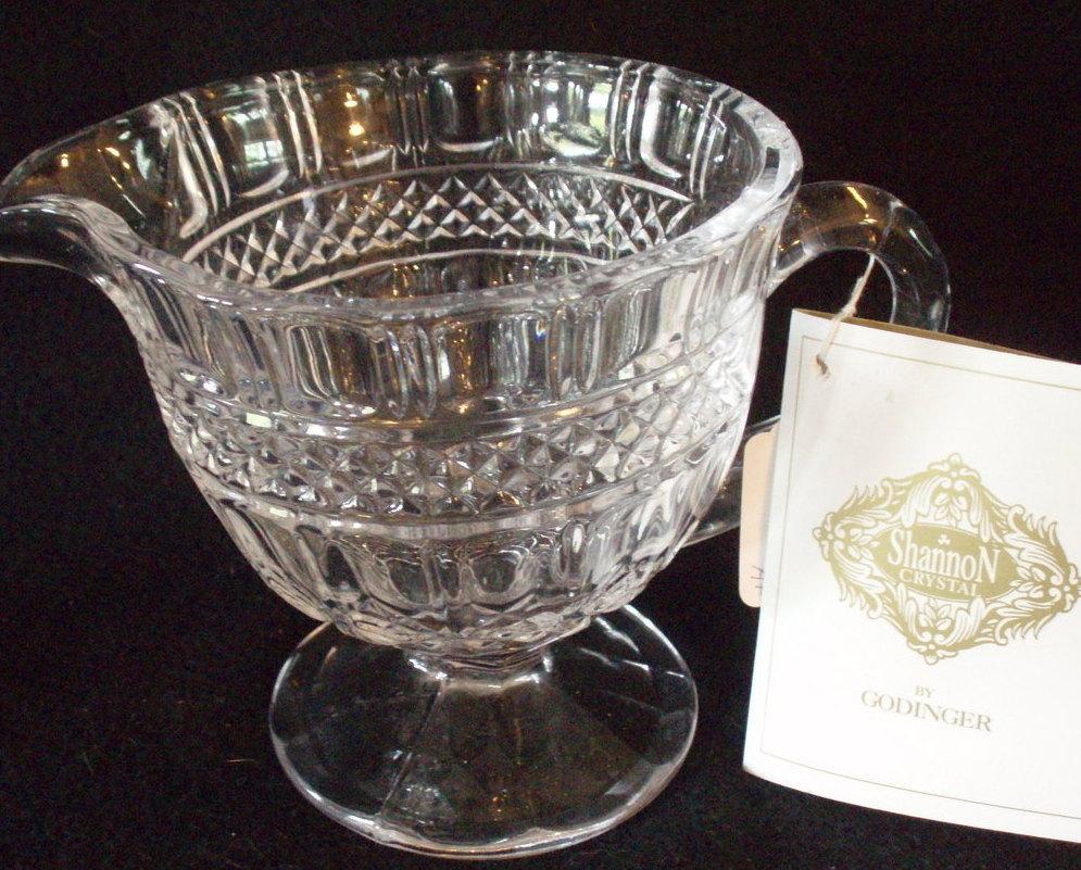 creamer pedestal pitcher Shannon Irish Godinger crystal