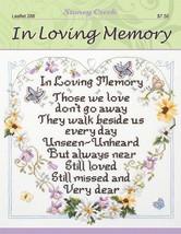 In Loving Memory L288 cross stitch chart Stoney... - $6.75