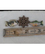 Package of 3 Kaolin Craft Pieces, Fish and Ship... - $1.99