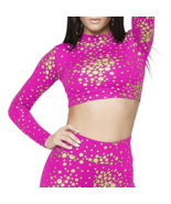 Nicki Minaj  Women's Crop Top Foil Dots Size X ... - $5.99