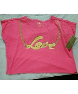 Nicki Minaj Crop Top Shirt Love Pink Size Large - $5.99
