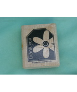 Thank You with Flower Gift Tag Style Rubber Sta... - $2.99