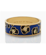 Kate Spade CATS OUT OF THE BAG Hinged Idiom Blu... - $69.00