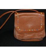 Fossil Tan Leather Beaded Mini Shoulder Bag - $20.00