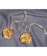 Acrylic Gold colored tear drops set of 8 New - $7.99