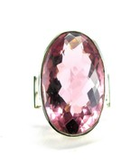 Modern Rose Cushion faceted Oval Topaz Sterling... - $141.12