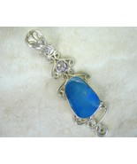 Abstract Australian Blue Fire Opal doublet  Ame... - $95.23