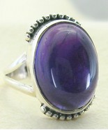Royal Purple Oval Amethyst Sterling SIlver Ring... - $72.00