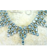 Ice Blue with a Hint of Mint Topaz Tear Drop Co... - $350.71