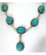 Ovals of Veined Southwestern Turquoise Sterling... - $121.55