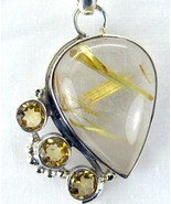 Rutilated Quartz aka Venus Hair Stone with Citr... - $72.00