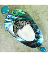 Hand Carved Goddess on an Abalone Cloud / Paua ... - $163.36
