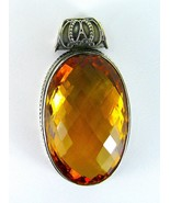 Striking Top Gem Cushion Faceted Oval of Citrin... - $118.45