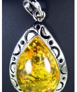 Large formed Baltic Amber Golden Yellow Tear Dr... - $42.58