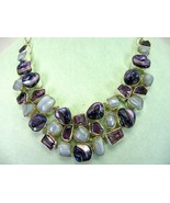 Purple Blister Pearl + Purple Amethyst with Blu... - $338.33