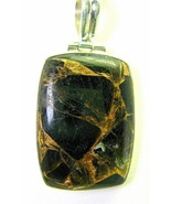 Natural Black Onyx with Copper Veining Rectangl... - $82.84