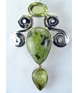 Serpentine Tear-Drop with Lemon Topaz Oval Tear... - $118.45