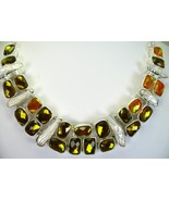 Fire Topaz Gold and Yellow faceted with BIWA Pe... - $330.58