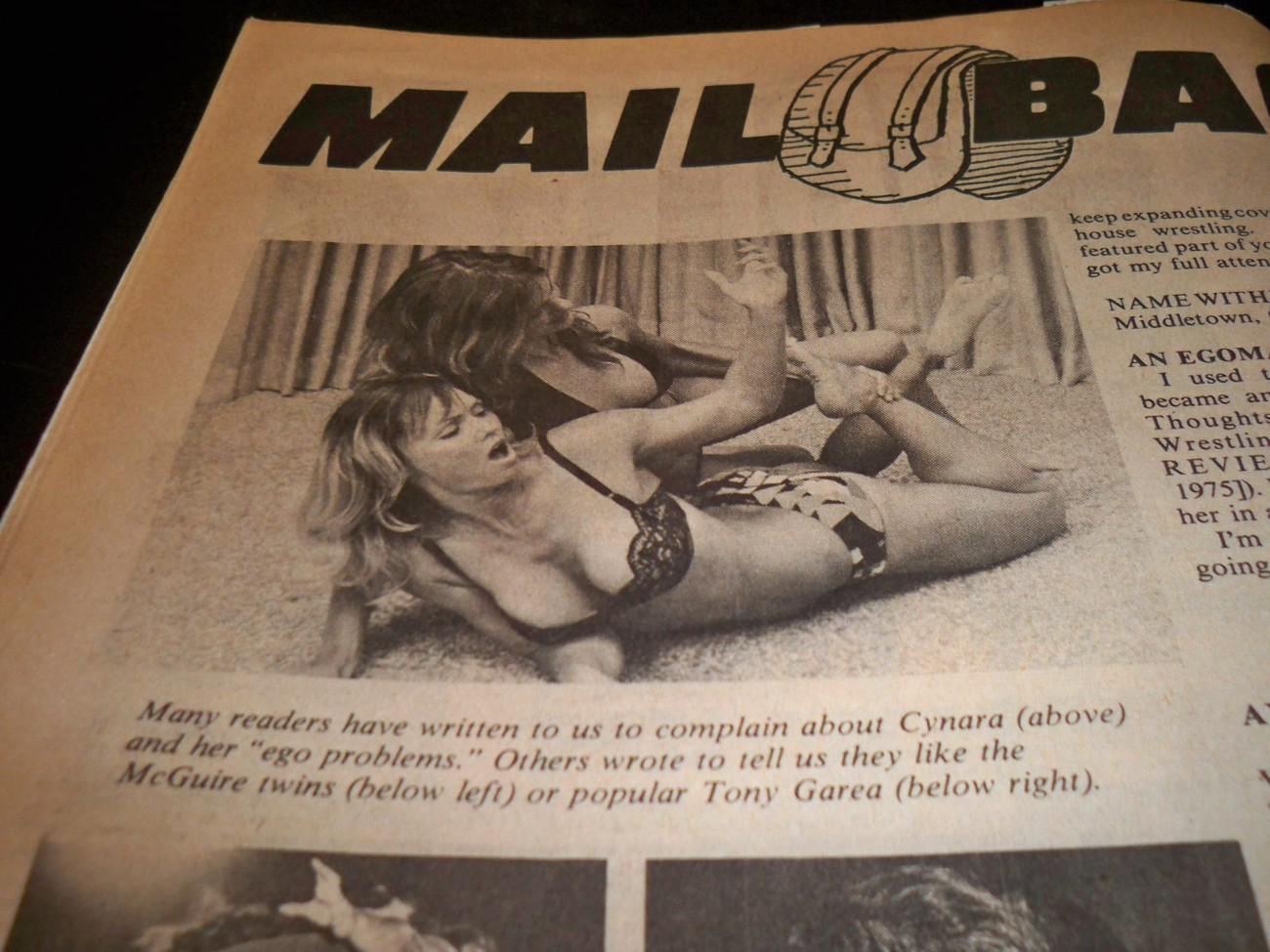 Apartment Wrestling Girls http://www.bonanza.com/listings/Sports-Review-Wrestling-Magazine-September-1975-Apartment-Wrestling-Women-WWF/90483527