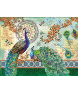 NEW Royal Peacocks 500 piece Jigsaw Puzzle Suns... - $10.80