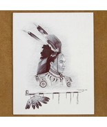 Limited Edition Six Feather Brave Print by Nati... - $49.97