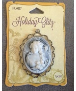 Large Halloween Ghostly Victorian Cameo Necklac... - $9.99