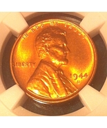 1944 S Lincoln Wheat Cent - NGC MS66 RD - Scarc... - $35.99