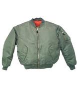 GREEN (Sage) Men's MA-1 Skinhead Bomber Flight ... - $46.50