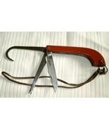 Red Bakelite Fishing Knife Stainless Steel Fish... - $22.50