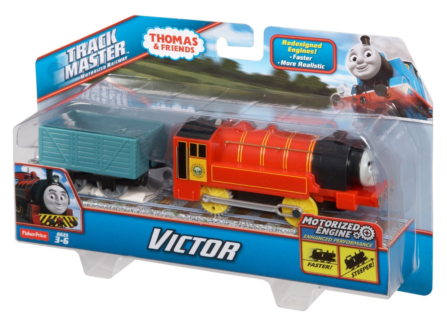 Fisher price thomas and friends motorized trackmaster for Thomas friends trackmaster motorized railway