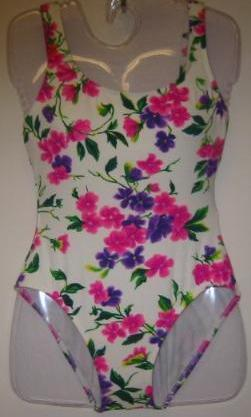 New Jantzen Swim Suit One Piece Floral Size 10