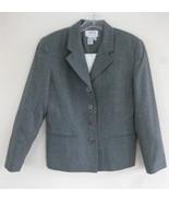 NWT Talbots Gray blazer Pure wool 6P $180 Heath... - $69.99