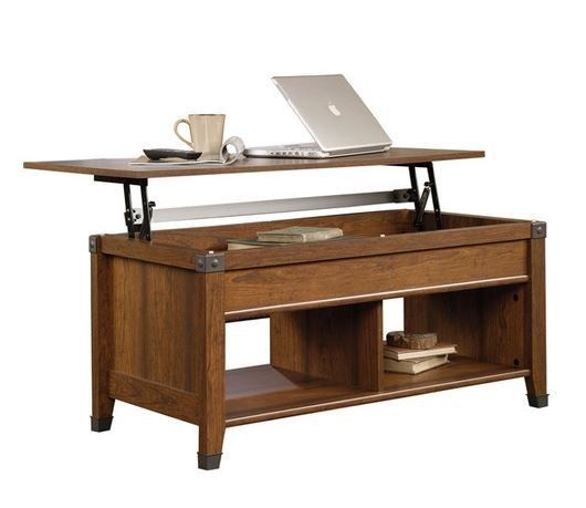 Wood Rustic Coffee Table Desk Living Room Furniture Den Office Ottoman Foot Rest Tables