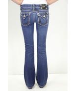 Sz 26 Miss Me Bootcut Jeans Beige Thick Stitchi... - $49.49