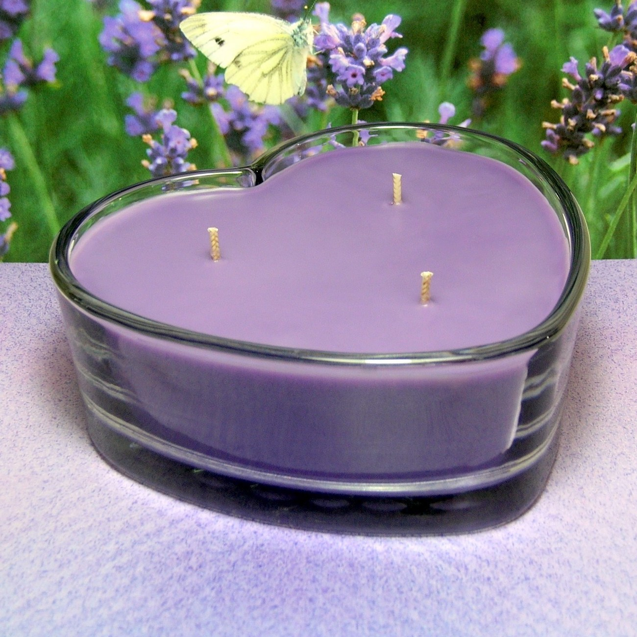 Lavender PURE SOY Heart Container Candle