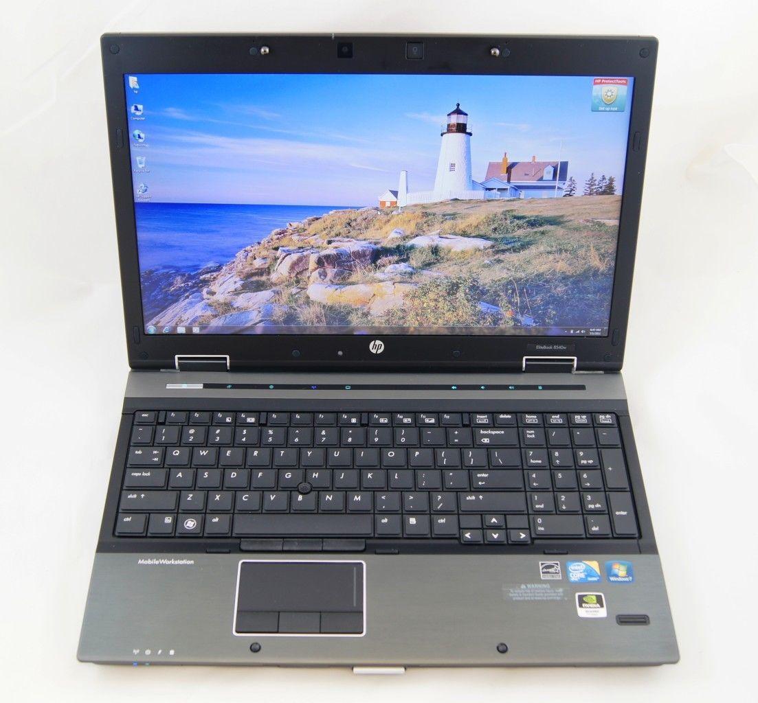 hp elitebook 8540w 15 6 notebook i7 840qm cpu 32gb ram 500gb hdd w7p pc laptops. Black Bedroom Furniture Sets. Home Design Ideas