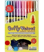Marvy Puffy Velvet Fabric Markers (Bright Color... - $11.95