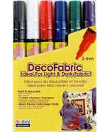 Marvy DecoFabric Fabric Markers (Primary Colors... - $9.95