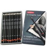 Derwent 12 Graphic Soft Graphite Pencils Tin Set - $16.95
