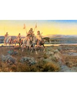 Piegans by Charles M. Russell Native American I... - $39.59