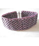 Bracelet: Matte Pearly Purple Hand Woven SuperD... - $29.00