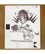 Limited Edition Native American Print Buffalo W... - $49.97