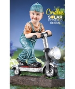 Little Boy with Scooter Solar... - $22.75