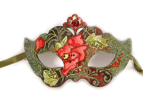 HAND MADE VENETIAN FLOWER MASQUERADE WOMEN  MASK