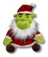 Shrek the Halls Ogre Claus Talking Plush Santa ... - $12.90