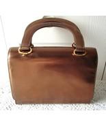 Vintage brown  vinyl purse Coret - $24.00